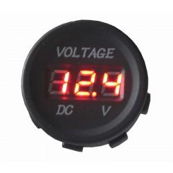 Digitálny voltmeter 5-48V červený