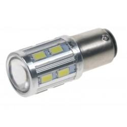 LED BA15d (jednovlákno) biela, 12-24V, 16LED / 5730SMD