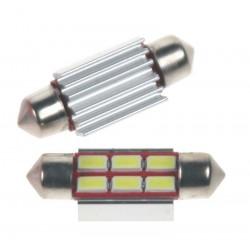 LED sufit (36mm) biela, 24V, 6LED / 5730SMD s chladičom