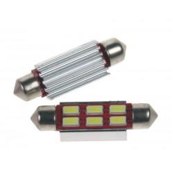 LED sufit (42mm) biela, 24V, 6LED / 5730SMD s chladičom