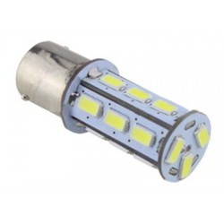 LED BAU15S biela, 12-24V, 18LED / 5730SMD