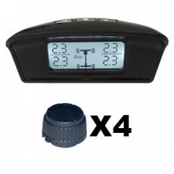 TPMS kontrola tlaku v pneumatike 4 externé čidlá