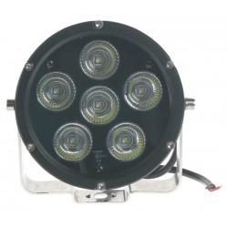 LED svetlo guľaté, 6x10W, Ø125mm, R112