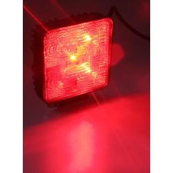 Výstražné LED svetlo vonkajšie, červené, 12 / 24V
