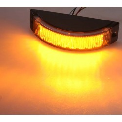 Výstražné LED svetlo vonkajšie, oranžovej, 12-24V
