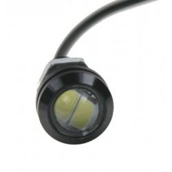 LED svetlo pre denné svietenie (eagle eye) 18mm, 12V, 3W, biela