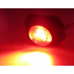 PROFI výstražné LED svetlo vonkajšie, 12-24V, červené