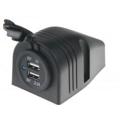 2x USB zásuvka vodeodolná v prídavnom paneli