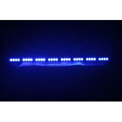 LED alej vodeodolná (IP66) 12-24V, 32x LED 1W, modrá 955mm