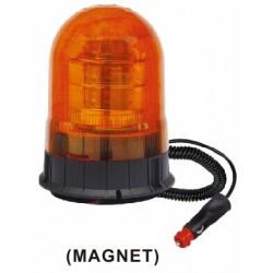 x LED maják, 12-24V, 18x3W, oranžový magnet, ECE R65