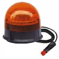 x LED maják, 12-24V, 12x3W, oranžový magnet, ECE R65