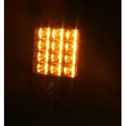 PREDATOR vonkajšie, 10-30V, 12x2W SMD LED, oranžový, 74x74x38mm, ECE R65