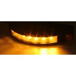 Výstražné LED svetlo vonkajšie, 12-24V, 6x3W, oranžovej, ECE R65