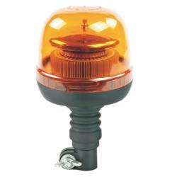 LED maják, 12-24V, 45xSMD2835 LED, oranžový, na držiak, ECE R65