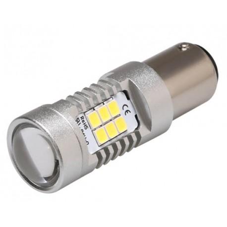 LED BA15s biela, 12-24V, 21LED / 2835SMD