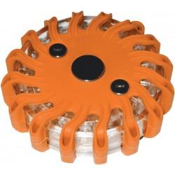 LED výstražné svetlo 16LED, oranžové