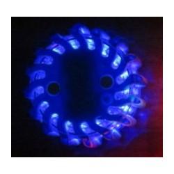 LED výstražné svetlo 16LED, modrej, set 6ks