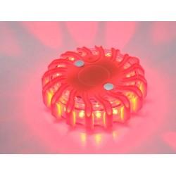 LED výstražné svetlo 16LED, červené, set 6ks