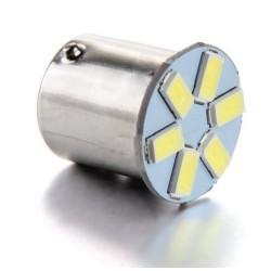 LED BAY15d (dvouvlákno) biela, 12V, 6LED / 5630SMD