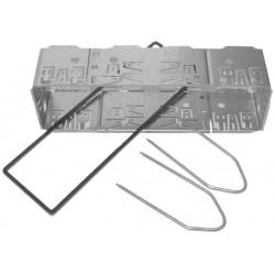 Univerzálny kastlík rádia ISO krátky, vrátane vytah. vidličiek a plastového lemu