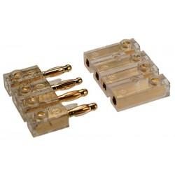 4-pólový pozlátený konektor pre pripojenie repro na zadnom platu