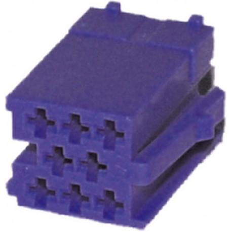 Konektor MINI ISO 8-pin bez káblov - modrý
