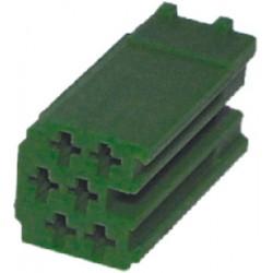 Konektor MINI ISO 6-pin bez káblov - zelený