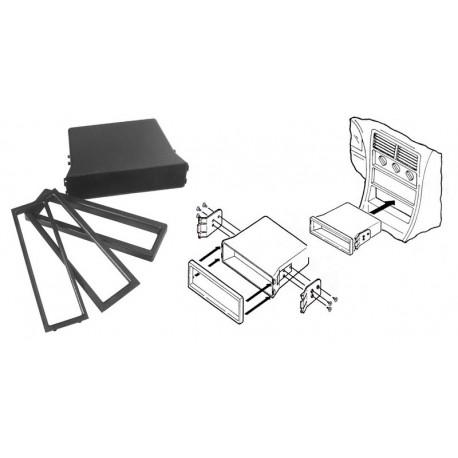 METRA priehradka DIN k autorádiám + vymedzovacie rámčeky, vrátane montážnych úchytov