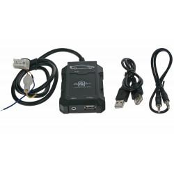 Adaptér pre ovládanie USB zariadenia OEM rádiom Nissan / AUX vstup