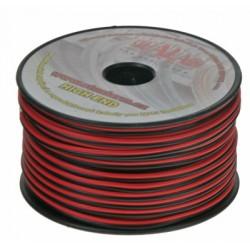 Kábel 2x1 mm, čiernočervený, 50 m bal