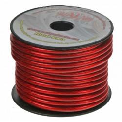 Kábel 6 mm, červeno transparentné, 25 m bal