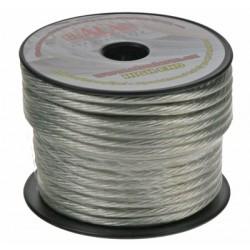Kábel 6 mm, strieborne transparentné, 25 m bal
