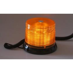 LED maják, 12-24V, oranžový magnet, homologácia