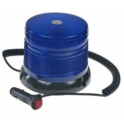 LED maják, 12-24V, modrý magnet, homologácia