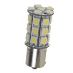 LED BAY15d (dvouvlákno) biela, 12V, 27LED / 3SMD