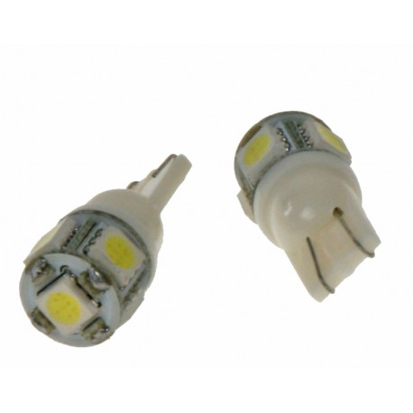 LED T10 biela, 12V, 5LED / 3SMD