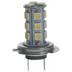 LED H7 biela, 12V, 18LED / 3SMD