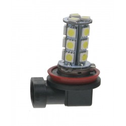 LED H8 biela, 12V, 18LED / 3SMD