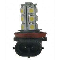 LED H11 biela, 12V, 18LED / 3SMD