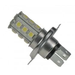 LED H4 biela, 12V, 18LED / 3SMD