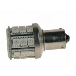 LED BAU15S červená 12V, 28LED / 3SMD