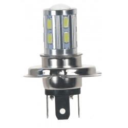 LED H4 biela, 10-30V, 12SMD 5630 + 3W