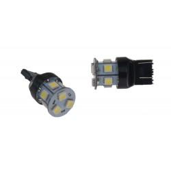 LED T20 (7443) biela, 12V, 9LED / 3SMD