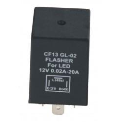 Prerušovač smeroviek LED, 12V, 0,02-20A pre európske autá