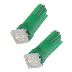 LED T5 zelená, 12V, 1LED / 3SMD