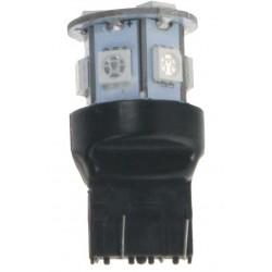 LED T20 (7443) červená, 12V, 9LED / 3SMD