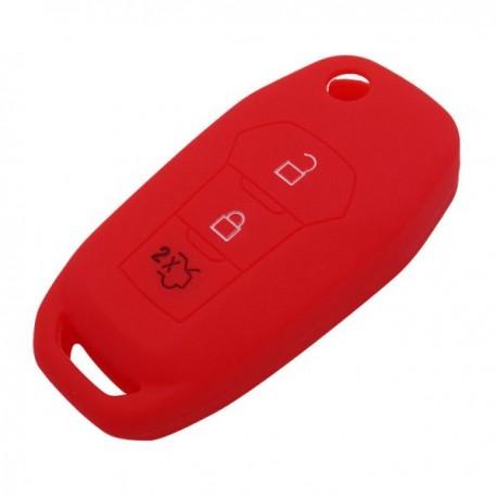Silikónový obal pre kľúč Ford Focus 2012-, Mondeo 2011- červený
