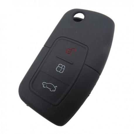Silikónový obal pre kľúč Ford 3-tlačidlový, čierny