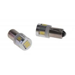 LED BA9s biela, 12V, 6LED / 5630SMD