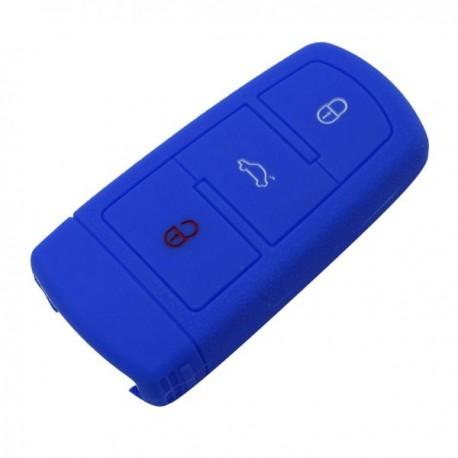 Silikónový obal pre kľúč VW 3-tlačidlový, modrý